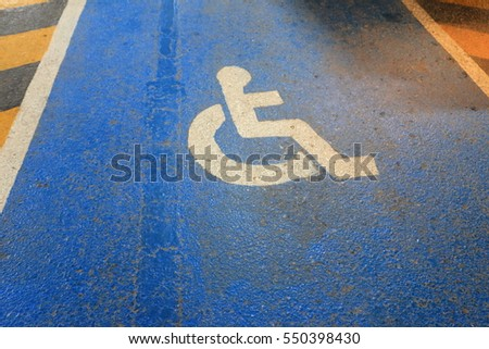 way for the disabled, wheelchair sign on the way #550398430