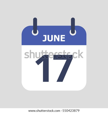 Flat icon calendar isolated on gray background. Vector illustration. Royalty-Free Stock Photo #550423879