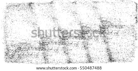 Grunge Black And White Urban Vector Texture Template. Dark Messy Dust Overlay Distress Background. Easy To Create Abstract Dotted, Scratched, Vintage Effect With Noise And Grain #550487488
