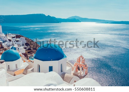 Santorini island,Greece Royalty-Free Stock Photo #550608811
