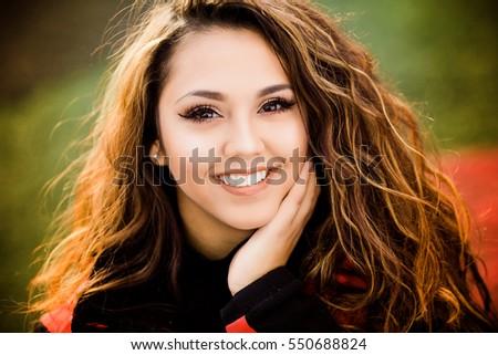 One hawaiian pacific islander girl poses for high school senior portrait