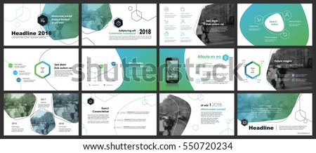 Blue-green elements of infographics on a white background. Use in presentation templates, flyer and leaflet, corporate report, marketing, advertising, annual report and banner. Royalty-Free Stock Photo #550720234