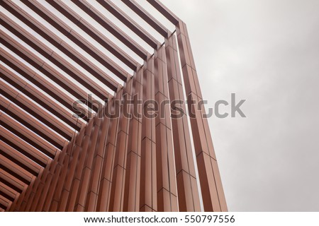 slat in modern building #550797556