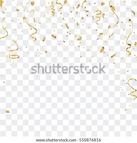 Gold confetti celebration Royalty-Free Stock Photo #550876816
