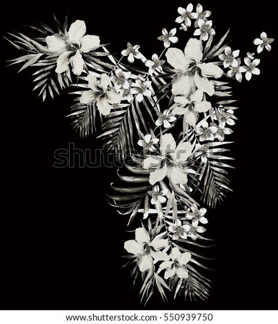 Tropical Flowers Fashion Graphic