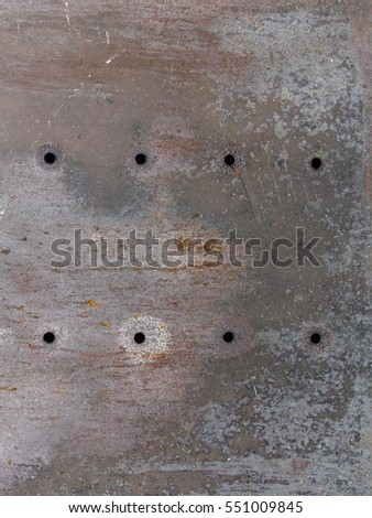 Vintage rusty metal plate, background texture for wallpapers and design #551009845