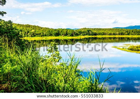 Landscape View of Mae Puem Reservoir, Thailand #551033833