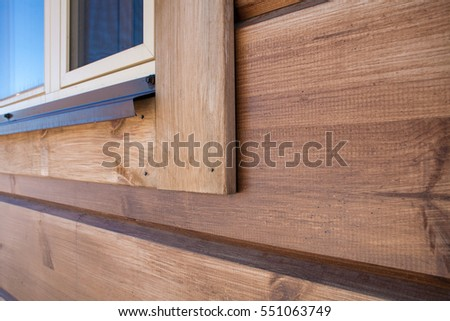 New wooden house detail #551063749