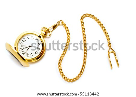 clock with beaded on a white background #55113442