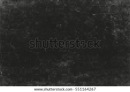 Grunge halftone vector background.Halftone dots vector texture. Black and white abstract backdrop. #551164267