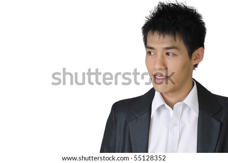 Young business man of Asian look away with copyspace. #55128352