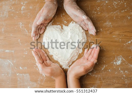 Chef preparing dough - cooking process #551312437