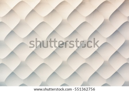 Creative wavy texture / pattern wall decoration made by leather panel.