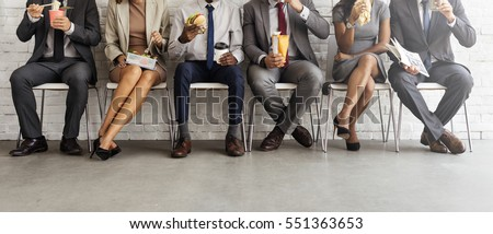 Business Team Working Break Eating Lunch Concept Royalty-Free Stock Photo #551363653