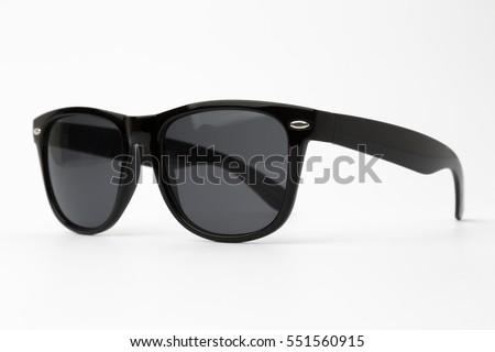 Black sunglasses isolated Royalty-Free Stock Photo #551560915