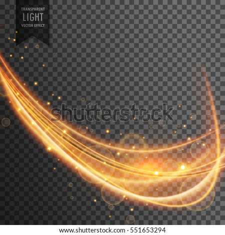 dynamic gold wave with sparkles on transparent background #551653294