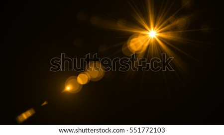 abstract of lighting digital lens flare in dark background Royalty-Free Stock Photo #551772103