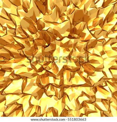 Golden lbright pattern abstract background. 3d render illustration #551803663
