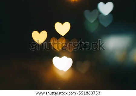 Flower love , heart ,  love , love bokeh , blackground  -vintage style picture and vintage color  Royalty-Free Stock Photo #551863753