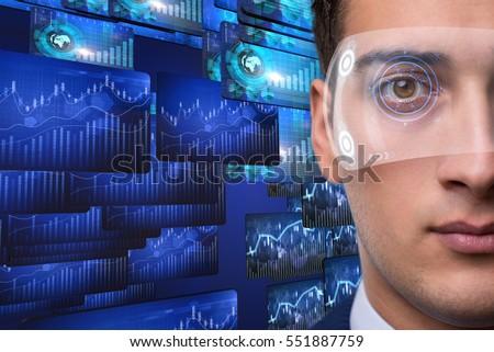 Businessman in future trading concept #551887759