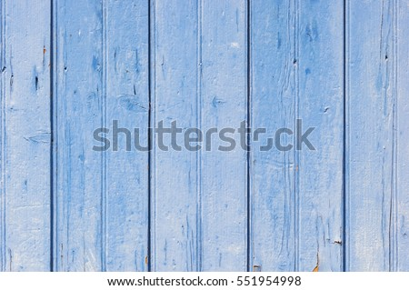 Old blue painted wooden background texture.