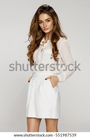 Beautiful female model  #551987539
