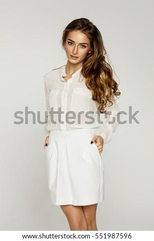 Beautiful female model  #551987596