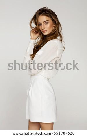 Beautiful female model  #551987620