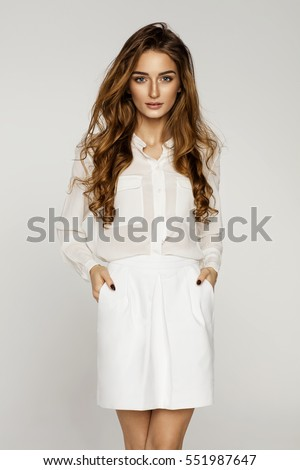 Beautiful female model  #551987647