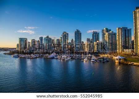 Beautiful view of Vancouver, British Columbia, Canada #552045985