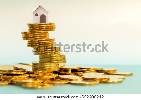 Saving money for real estate with buying a new home and loan for prepare in the future concept. #552200212