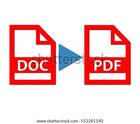 Document to pdf file illustration