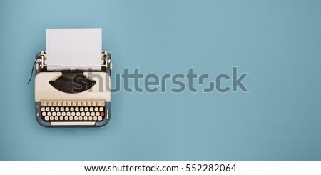 Vintage typewriter header #552282064