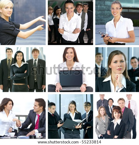Business collage made of nine business pictures #55233814