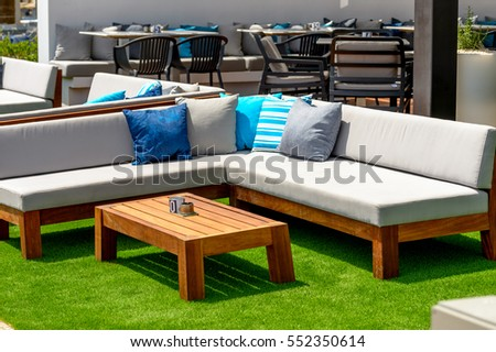 summer outdoor furniture #552350614