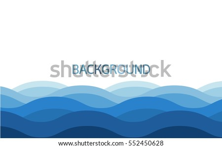 Water wave background , Blue color background , Vector illustration