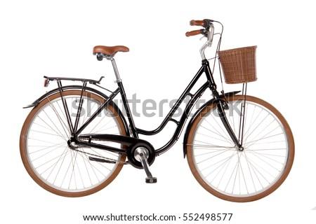 Classic City Bike Isolated Image bicycle