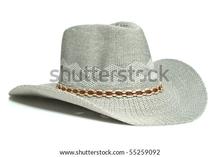 Traditional American straw hat of cowboy #55259092