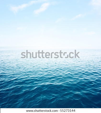Blue sea with waves and clear blue sky #55273144