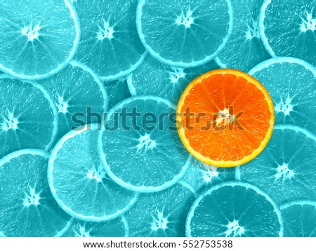 orange slices odd one out graphics #552753538