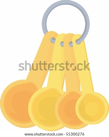 Illustration of Bunch Of Spoons on white background #55300276