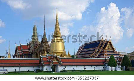 The Grand Palace is a complex of buildings at the heart of Bangkok, Thailand. It's the one of the most popular tourist attractions in Thailand.                        #553227337