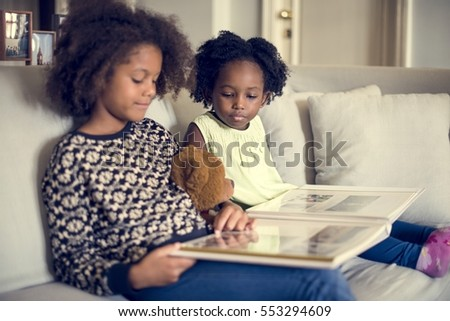 African Descent Family House Home Resting Living #553294609