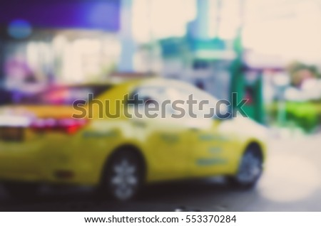 Blurred abstract background of filling station #553370284