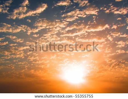 Burning Sunset #55355755