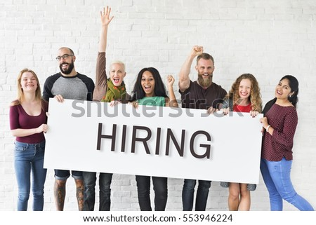 Hiring Career Employment Human Resources Concept #553946224