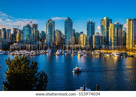 Beautiful view of Vancouver, British Columbia, Canada #553974034