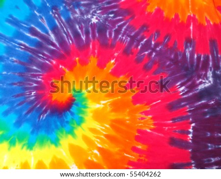 Closeup of a Tie dye shirt
