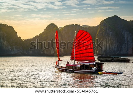 The wonderful Ha Long Bay, Unesco world heritage in Vietnam #554045761