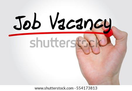 """Hand writing inscription """"Job Vacancy with marker, concept Royalty-Free Stock Photo #554173813"""